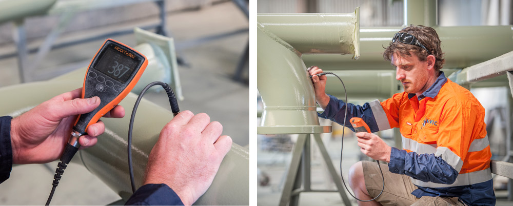 Ausvic inspecting paint quality and thickness
