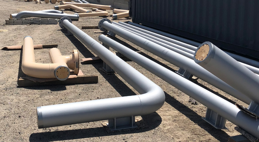 Protective coatings on pipes for Jemena project at Ausvic