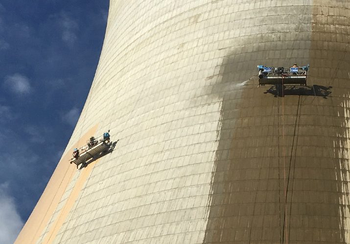 Ausvic preparing and painting Loy Yang Cooling Tower